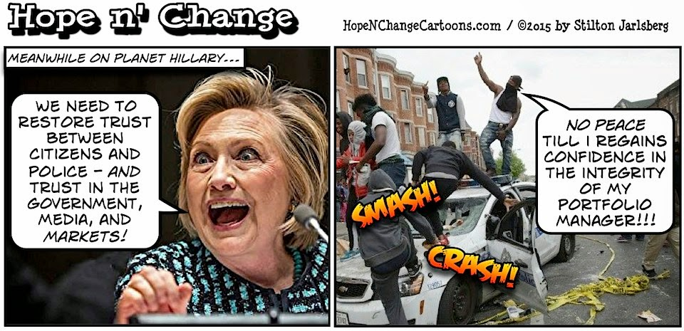 obama, obama jokes, political, humor, cartoon, conservative, hope n' change, hope and change, stilton jarlsberg, hillary, baltimore, markets, hard truth, racism