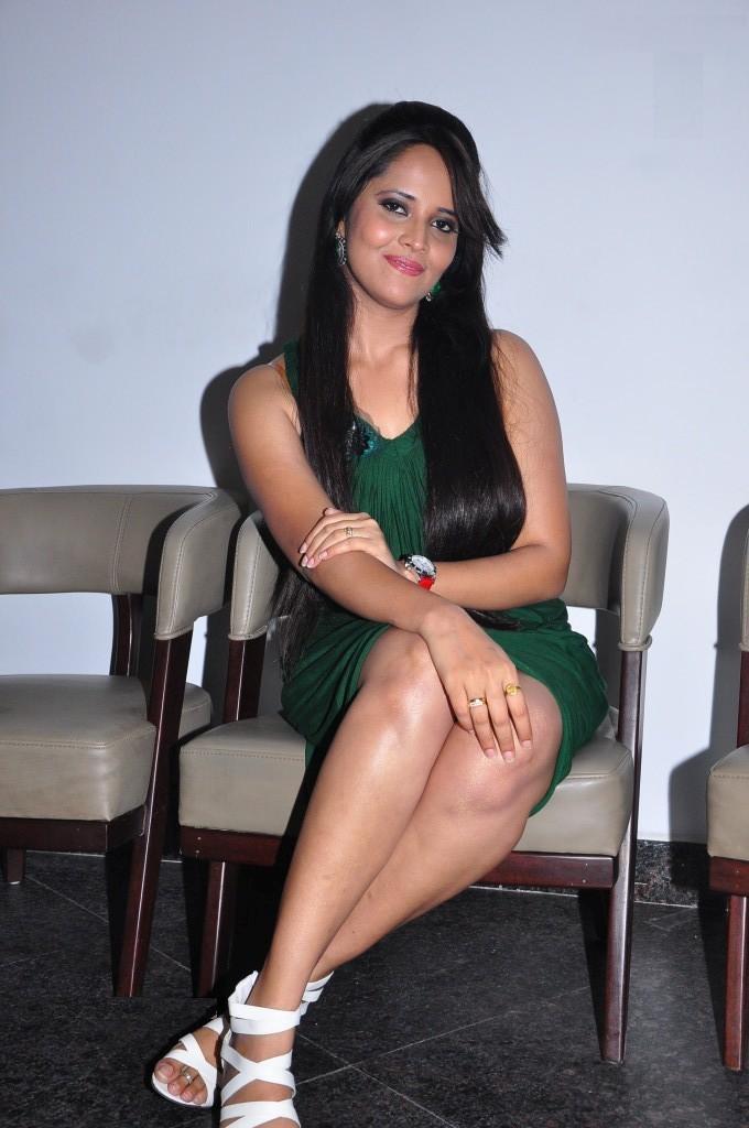 Telugu Tv anchor Anasuya hot legs - HD Group Sex