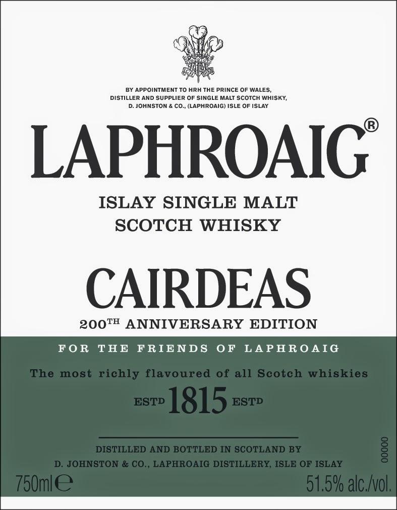 Laphroaig Cairdeas front label