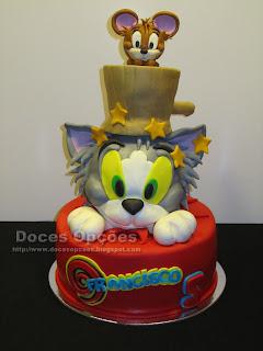 Bolo de aniversário Tom and Jerry