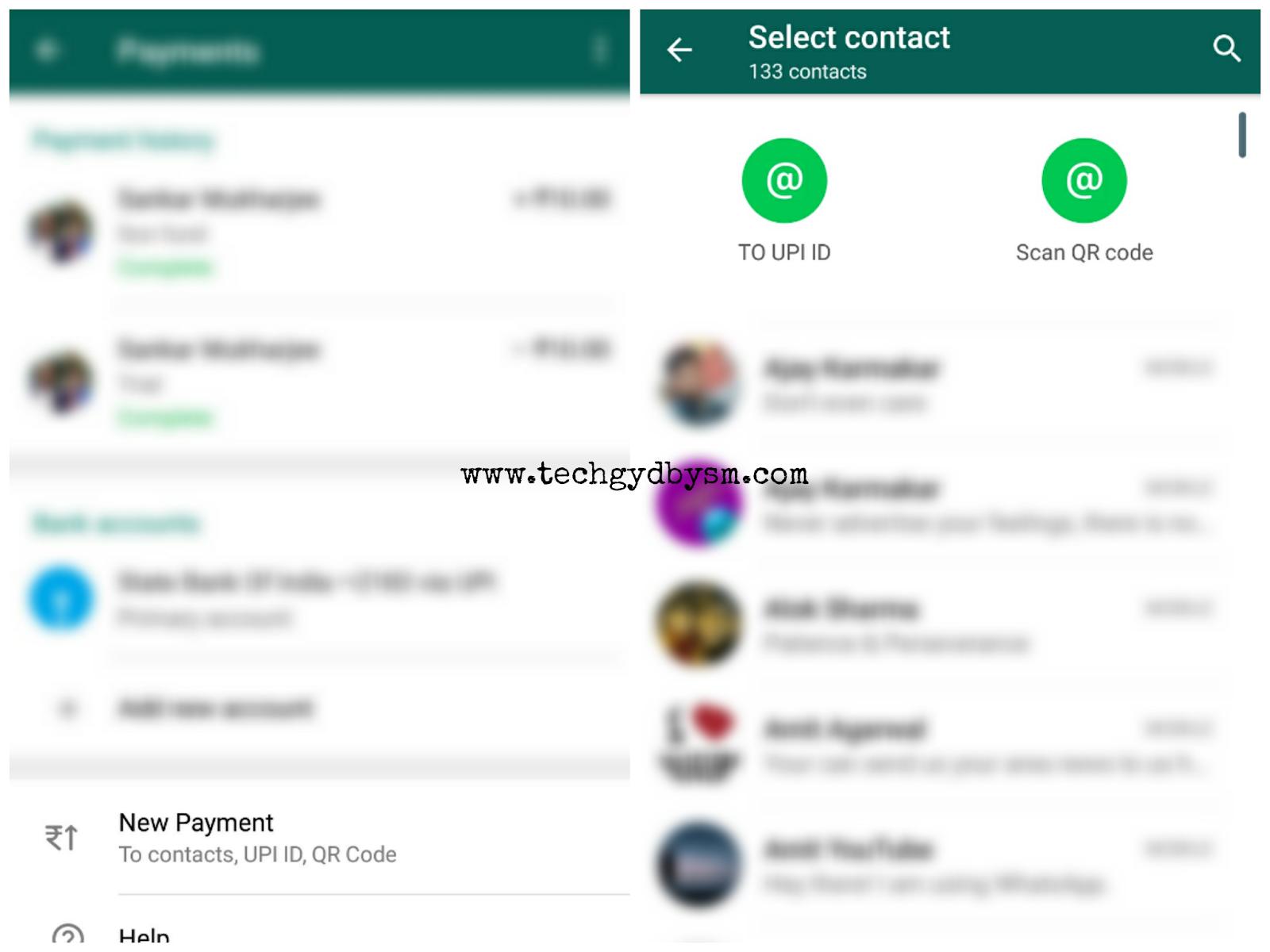 WhatsApp Payment QR code