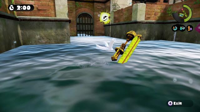 Splatoon Inkling dissolve drown die in water ghost