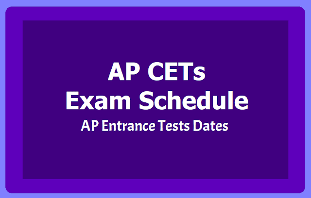 AP CETs Exam Schedule