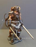 cake toppe combattenti guerrieri antichi spade arco sposi fantasy orme magiche