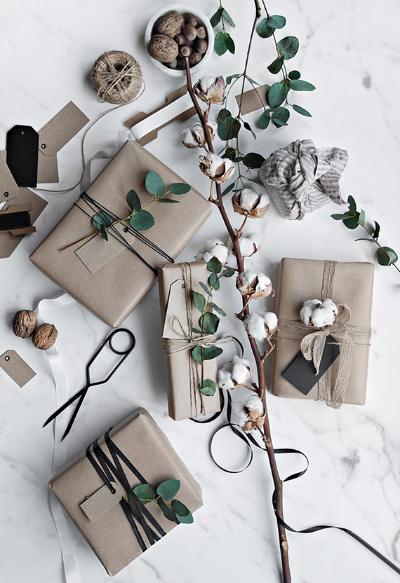 Wrapping presents by Katerina Dima via Only Deco Love