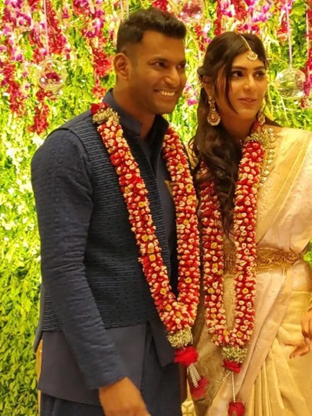 Vishal and Anisha Reddy engagement: First photos of the couple are out,chennai, News, Cinema, Marriage, Entertainment, Actor, Actress, National