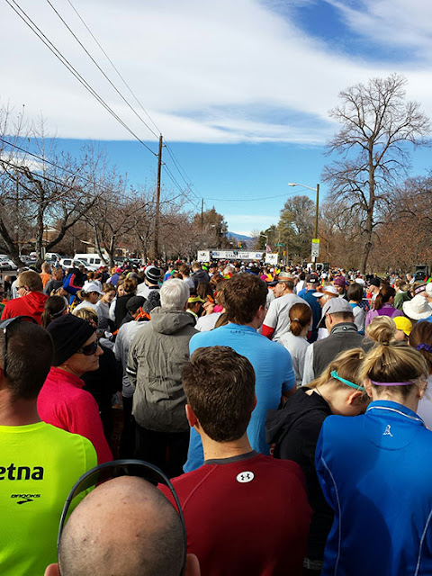 Mile High Turkey Trot start line