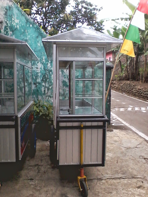 Gerobak Alumunium Martabak Mini