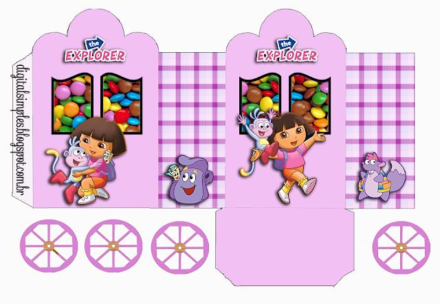 Dora: Caja Con Forma De Carruaje Para Imprimir Gratis
