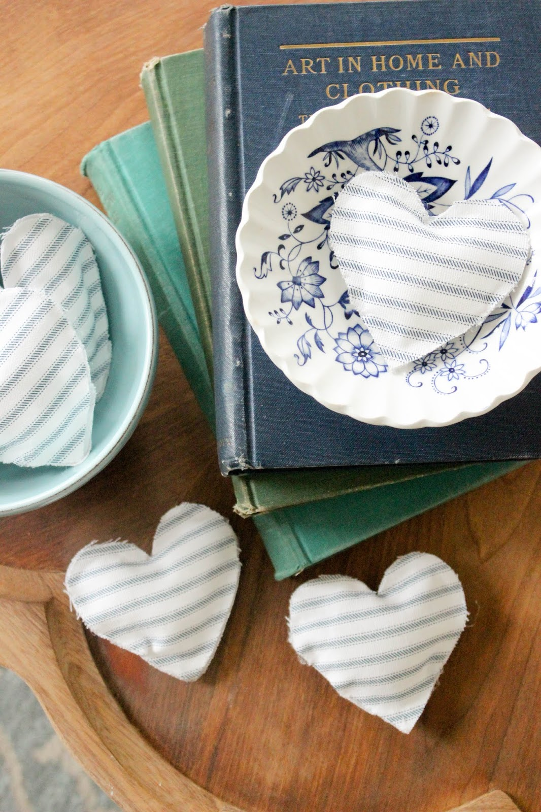 no-sew fabric hearts