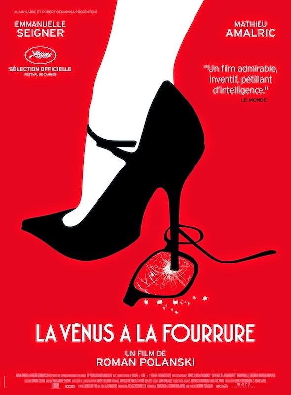 Affiche de La Vénus à la fourrure, de Roman Polanski