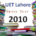 [pdf] UET lahore Entry Test Past Paper year 2010 free Download