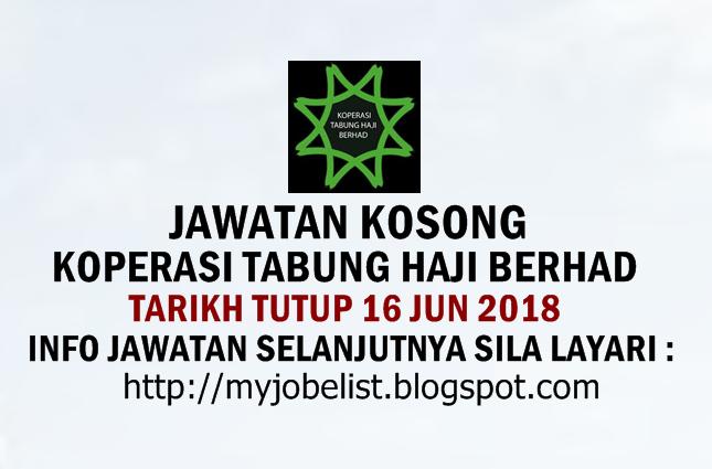 Jawatan Kosong Koperasi Tabung Haji Berhad Jun 2018