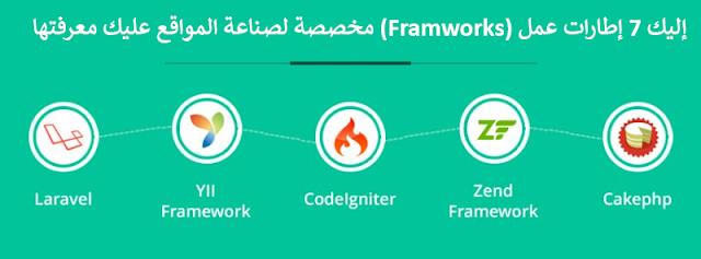 إليك 7 إطارات عمل (Framworks) مخصصة لصناعة المواقع عليك معرفتها