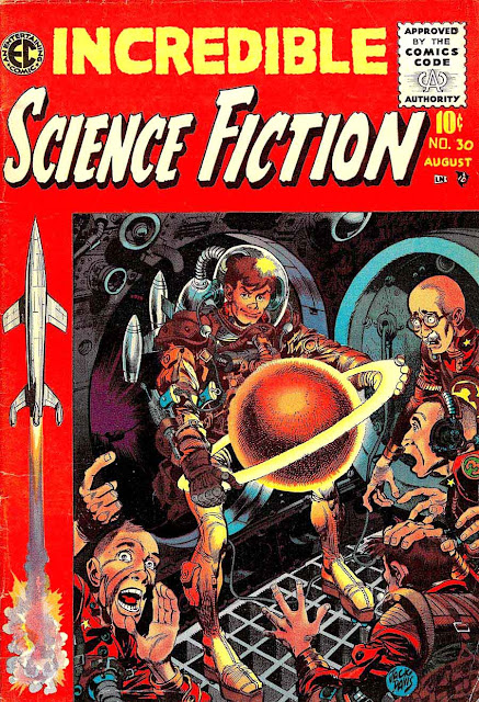 Incredible Science Fiction v1 #30 ec comic book cover art by Jack Davis