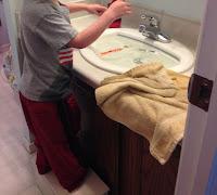 preschooler flooding the bathroom