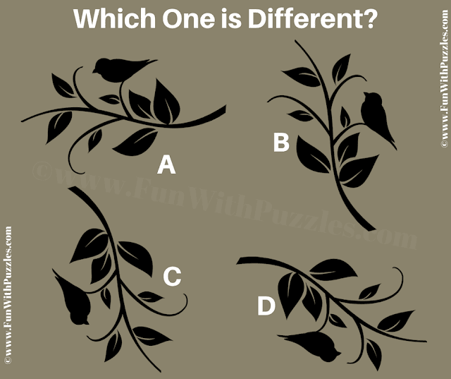 It is the Odd One Out Picture Puzzle in which your challenge is find the puzzle image which is different