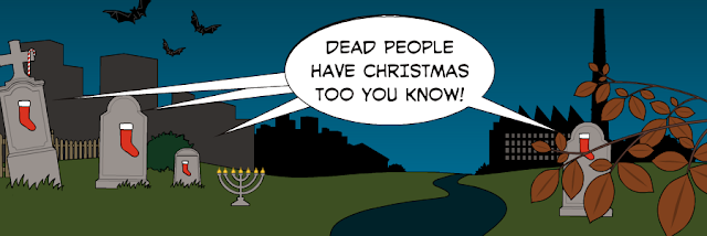 Merry Christmas To Dead People in world