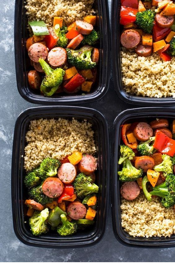Roasted Sausage, Veggies and Quinoa Meal-Prep