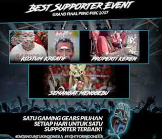 Event Best Supporter PB Garena Indonesia Grand Final PBNC dan PBIC 2017
