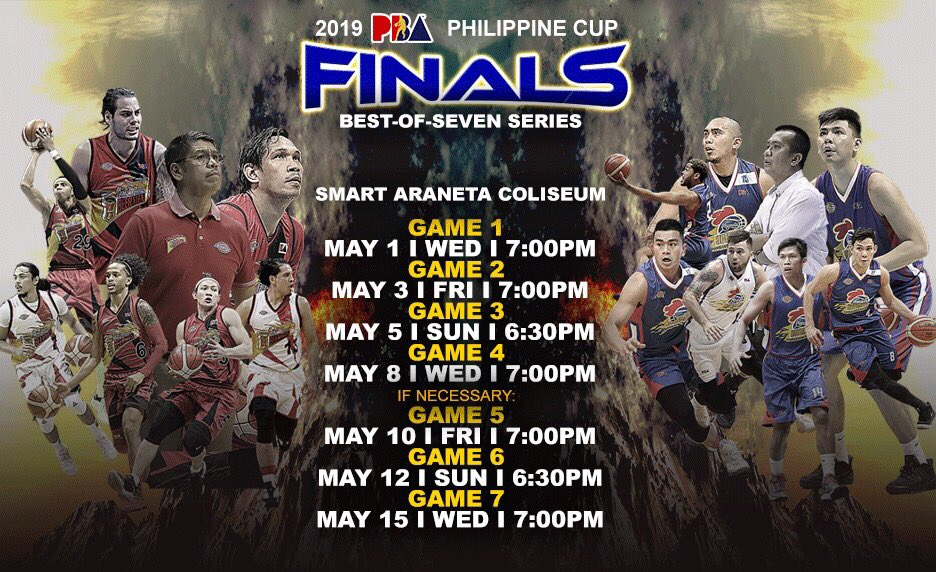 2019 PBA Philippine Cup Finals Schedule.