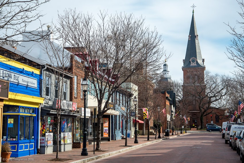 Downtown Annapolis, Maryland in February 2016. Photo by Corey Templeton.