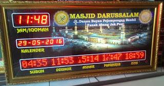Jadwal Sholat Digital Running text Jakarta
