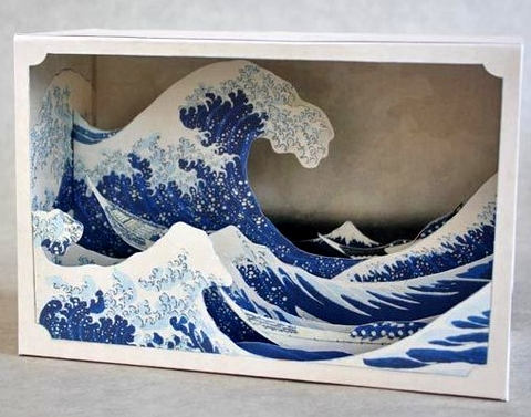 ocean wave diorama