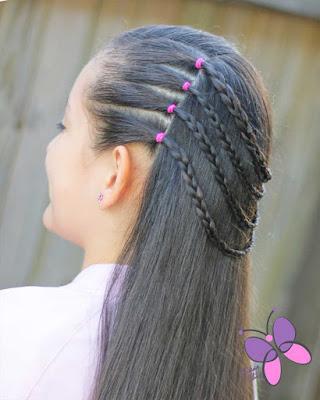 peinados para niñas con ligas