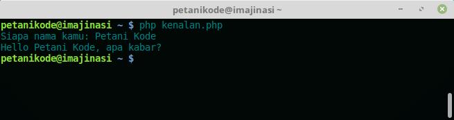 Percobaan pengambilan input di PHP CLI