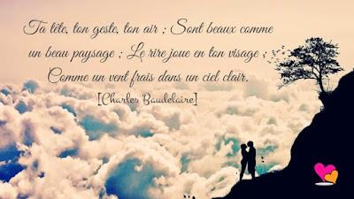 Citation déclaration d'amour de Charles Baudelaire