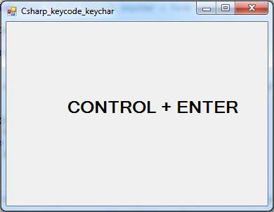 c# enter key keychar