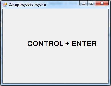 C# KeyChar, KeyCode - C#, JAVA,PHP, Programming ,Source Code