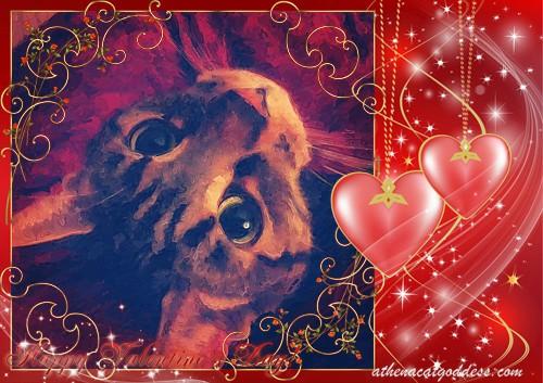 Caturday Art Painted Valentine