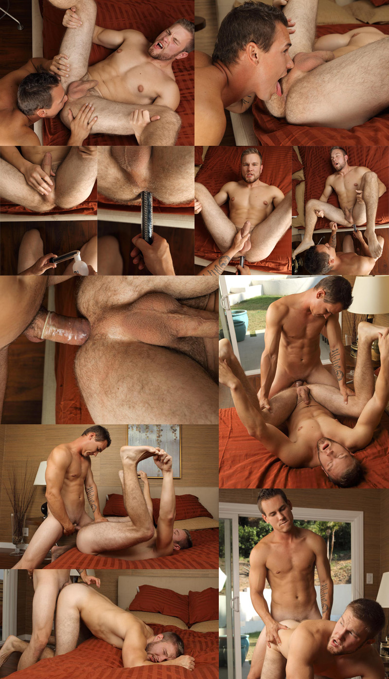 Blond bottom boy Chad Hollon tops Patrick Dunne