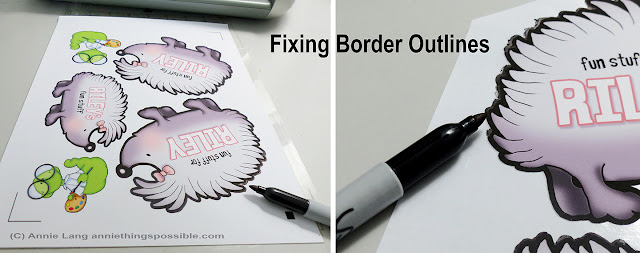 Annie Lang shows you how to fix black border cutout edges for cutting with a Silhouette Portrait
