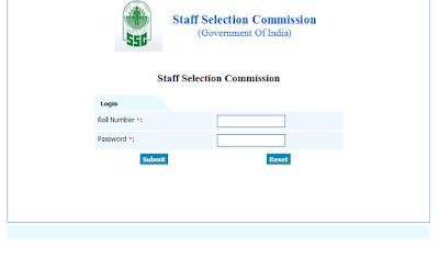ssc cgl response key login