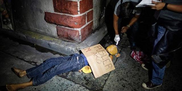penembak misterius terhadap pengedar narkoba di filipina