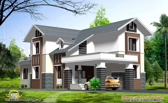 Double story home design 2463 sq ft kerala home - Kerala home designs photos in double floor ...
