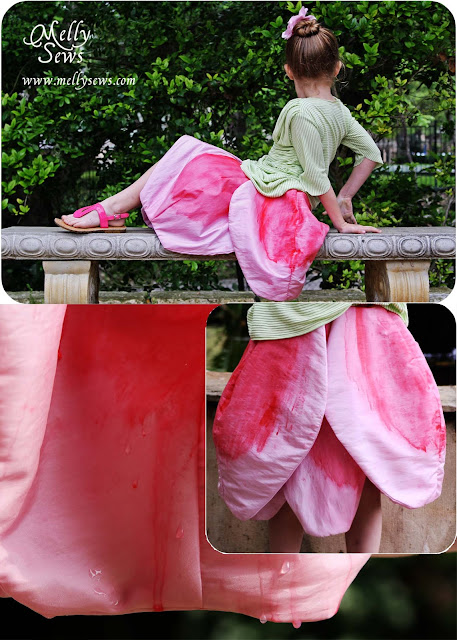 Taffeta Tulip Skirt by Melly Sews