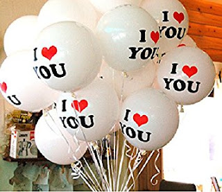 Balon Printing / Balon Sablon 2 Warna (I LOVE YOU)