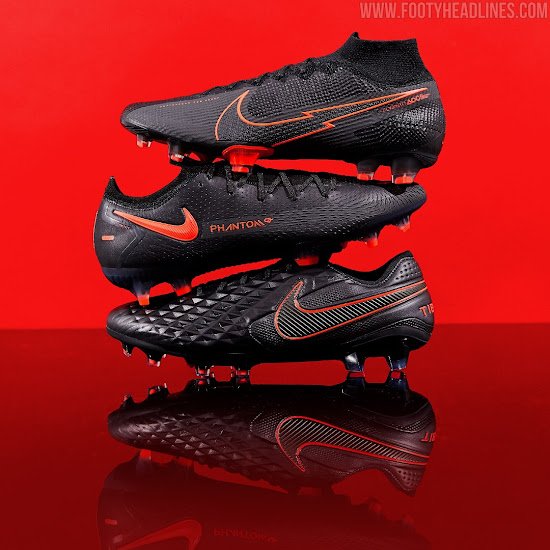 Arashigaoka residuo Chaleco  Nike Black x Chile Red 2020-21 'Black Pack' Boots Released - Footy Headlines