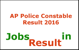 AP Police Constable Result 2016