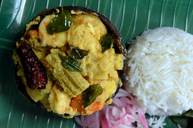 Prawn Avial ~ Shrimps & Coconut Curry