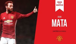 Juan Mata Man of the Match United vs Hull 2-0