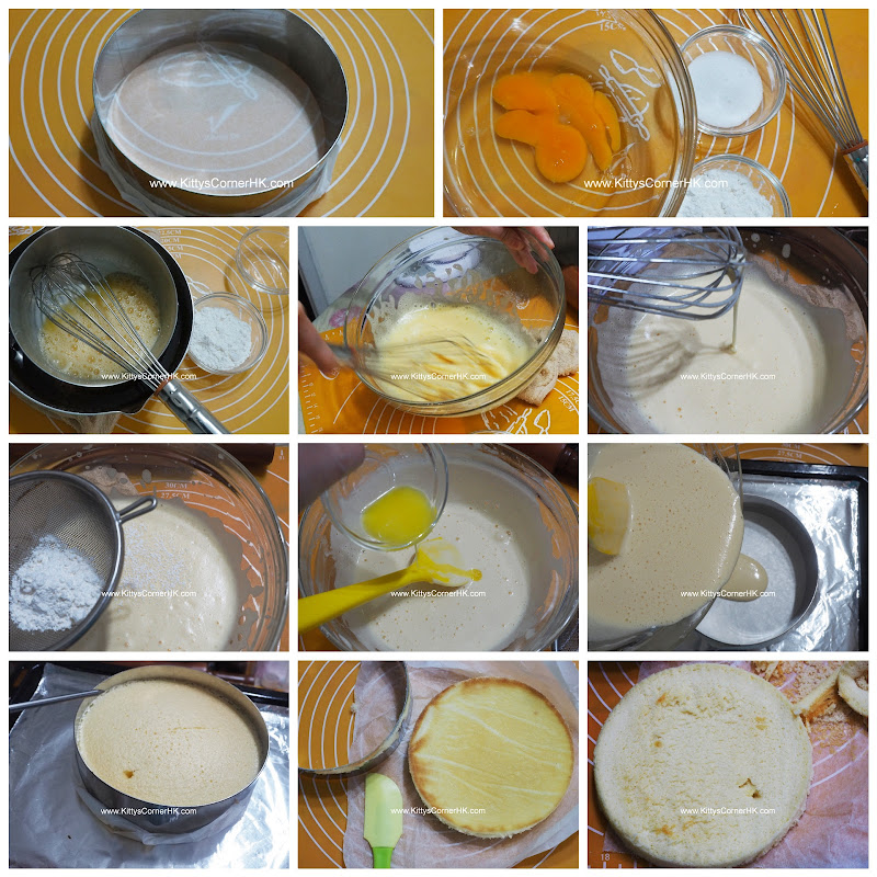 6-inch Base Cake DIY recipe 6吋清蛋糕 自家烘焙食譜