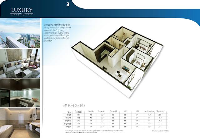 Chi tiết căn hộ 03 dự án Alphanam Luxury