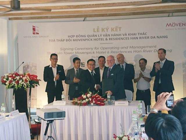 Lễ ký kết hợp đồng dự án chung cư Movenpick Đà Nẵng