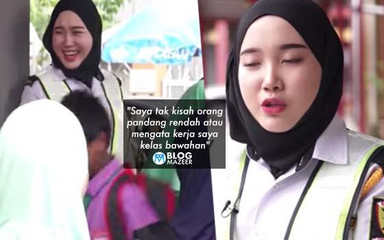 """Saya tak kisah orang pandang rendah atau mengata kerja saya kelas bawahan"" - Gadis cantik tidak memilih kerjaya ini dipuji netizen"