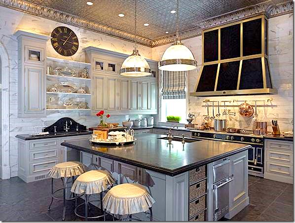 different color kitchen cabinets home depot designs hydrangea hill cottage: black la cornue
